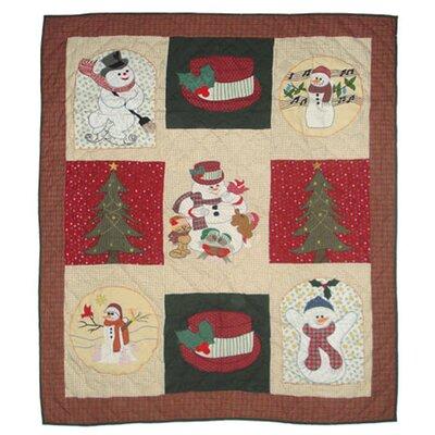 Jolly Snowmen Cotton Throw by Patch Magic