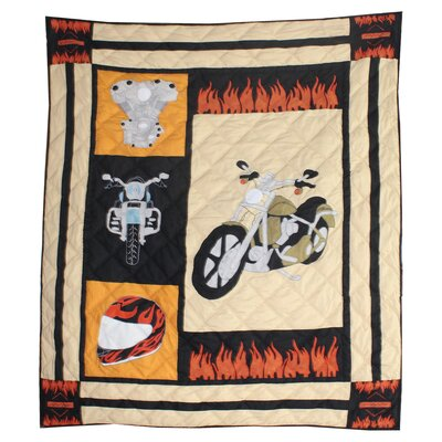 Patch Magic Motor Cycle Cotton Throw
