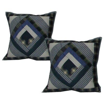 Patch Magic Log Cabin Cotton Throw Pillow