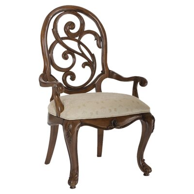 Jessica Mcclintock Splat Back Arm Chair by American Drew