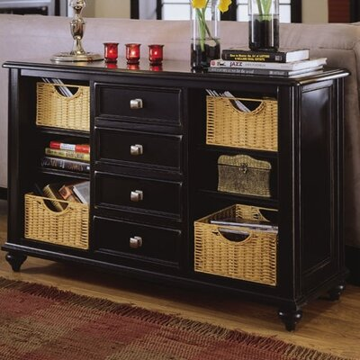 Camden Black Console Table by American Drew