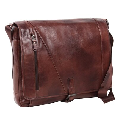 Rustic Messenger Bag by Dr. Koffer Fine Leather Accessories