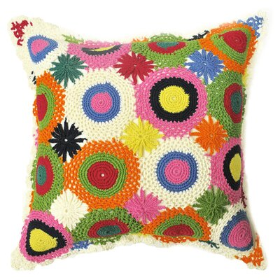Amity Home Crochet Cotton Throw Pillow
