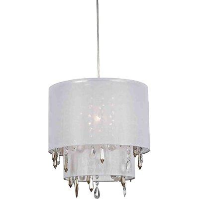 Dar Lighting Beverley 1 Light Drum Pendant Light Reviews WF
