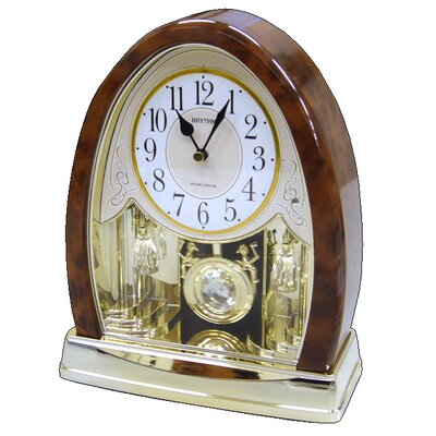Joyful Crystal Bells Table Clock by Rhythm