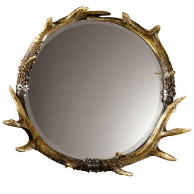 Uttermost  Rustic Fau Stag Horn Wall Mirror
