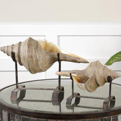 Uttermost 2 Piece Conch Shell Sculpture