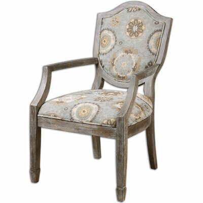 Valene Weathered Arm Chair by Uttermost