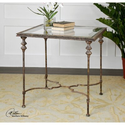 Quillon Glass End Table by Uttermost