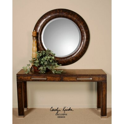 Leather Leonizio Beveled Mirror by Uttermost