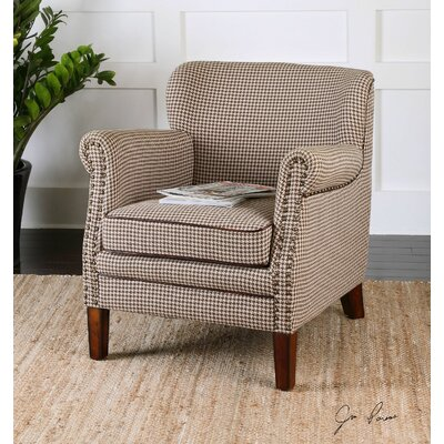Tinsley Hounds-Tooth Club Chair by Uttermost