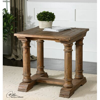 Saturia Wooden End Table by Uttermost
