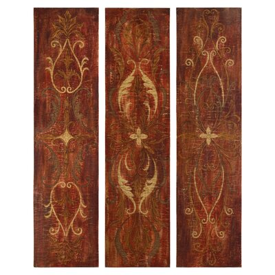 Elegant Panels by Grace Feyock 3 Piece Original Painting on Canvas Set by Uttermost