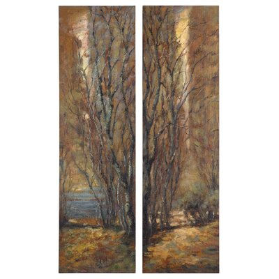Tree Panels by Feyock 2 Piece Original Painting Set by Uttermost
