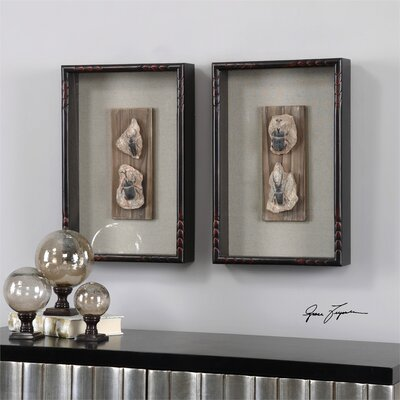 Fossilized Insects 2 Piece Framed Wall Art by Uttermost