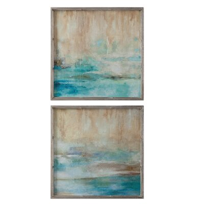 Through The Mist Abstract Art 2 Piece Framed Painting Print by Uttermost