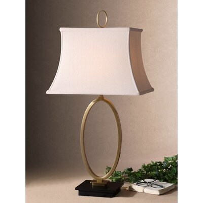 """Uttermost Orpaz 34"""" H Table Lamp with Bell Shade"""