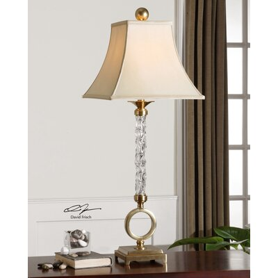 """Uttermost Aversa 37"""" H Table Lamp with Bell Shade"""