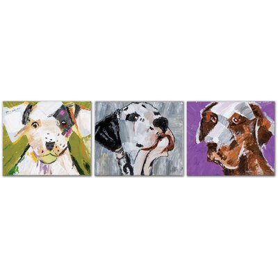Three Amigos 3 Piece Original Painting on Canvas Set by Uttermost