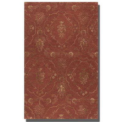 Geneva Crimson Red Floral Area Rug by Uttermost