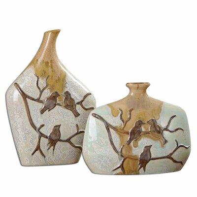 2 Piece Pajaro Vase Set by Uttermost