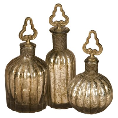 Uttermost Kaho 3-Piece Perfume Bottle Set