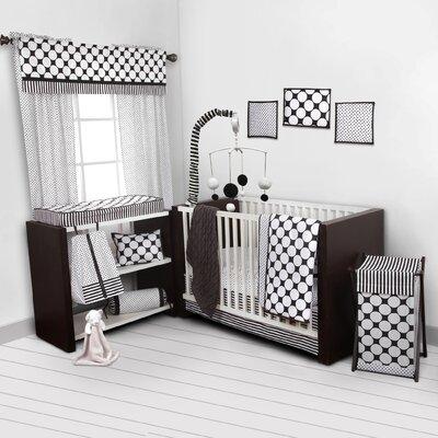 Dots/Pin Stripes 10 Piece Crib Bedding Set by Bacati