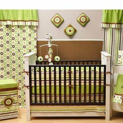 Bacati Mod Dots and Stripes Crib Sheet