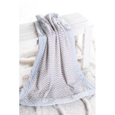 Ikat Zigzag with Border Plush Blanket by Bacati