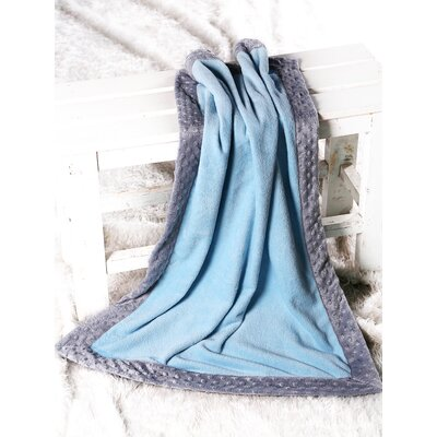 Solid with Border Plush Blanket by Bacati