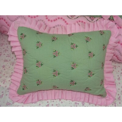 Bacati Summer Garden Cotton Boudoir/Breakfast Pillow