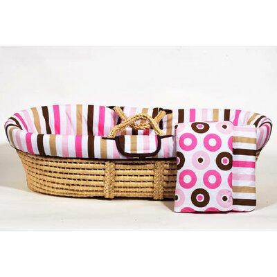Mod Dots and Stripes Moses Basket by Bacati