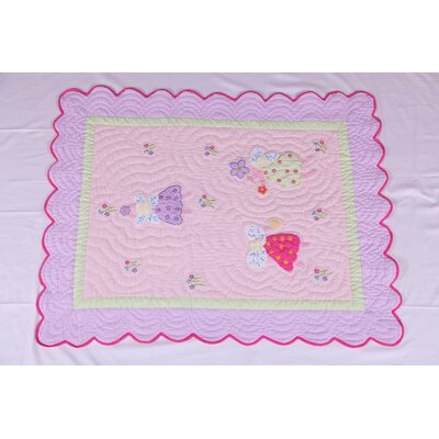 Fairy Land Oversize Toddler Bed Quilt by Bacati