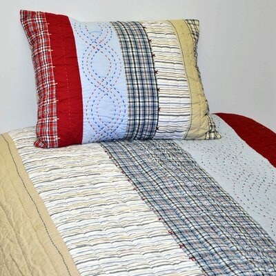 Bacati Boys Stripes and Plaids Quilt Collection