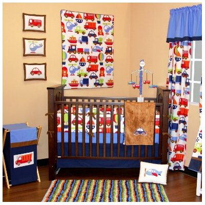 Bacati Transportation 10 Piece Crib Bedding Set