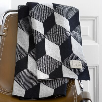 ferm LIVING Squares Cotton Throw Blanket
