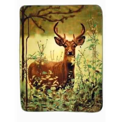 Deer Standing Throw Blanket by Shavel