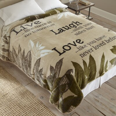 Live Laugh Love Throw Blanket by Shavel