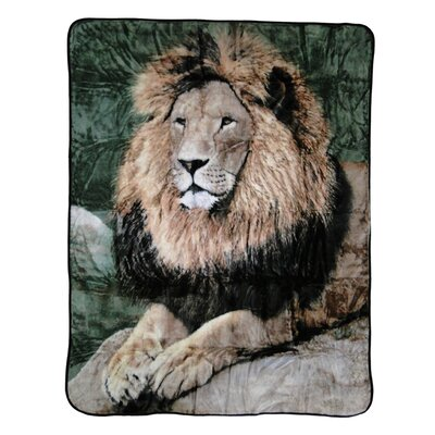 Mighty Lion Throw Blanket by Shavel