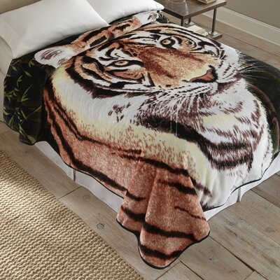 Tiger Throw Blanket by Shavel