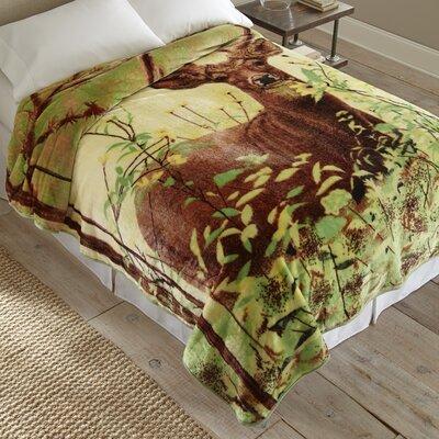 Standing Deer Throw Blanket by Shavel