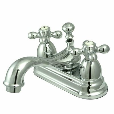 Centerset Bathroom Faucet with Double Cross Handles Product Photo