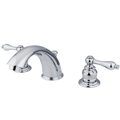 Widespread Bathroom Faucet with Double Metal Lever Handles Product Photo