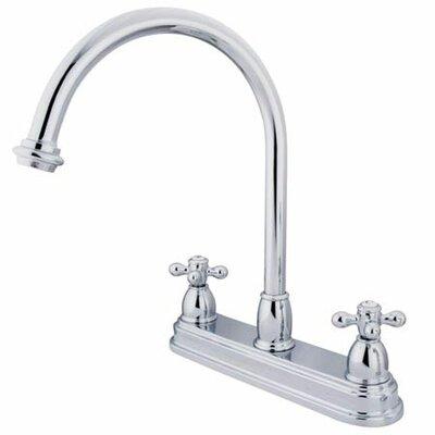 Elements Of Design Double Handle Centerset Kitchen Faucet With Metal Cross Handles Reviews