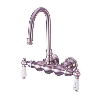 Elements of Design Vintage Double Handle Wall Mount Clawfoot Tub Faucet Trim