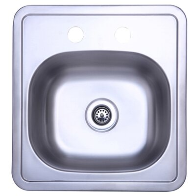 "Elements of Design 15"" x 15"" Single Bowl Kitchen Sink"