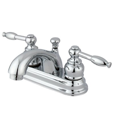 Centerset Bathroom Faucet with Double Lever Handles Product Photo
