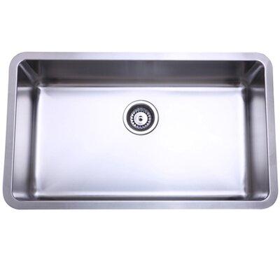 "30.13"" x 17.88"" x 10"" Undermount Single Bowl Kitchen Sink Product Photo"