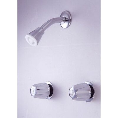 """Elements of Design Twin HDL 8"""" Center Tub/Shower Valve W/O Spout CP"""