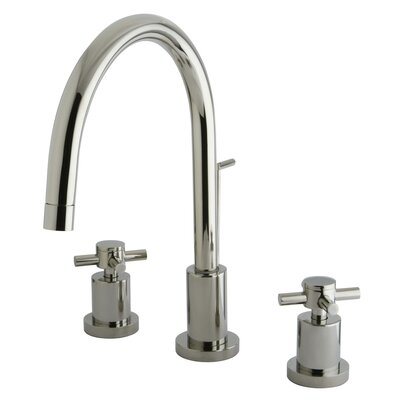 Concord Double Handle Single Hole Widespread Bathroom Faucet with Brass Pop-Up Product Photo